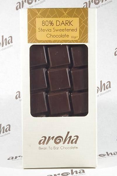 Þeker Ýlavesiz Stevialý %80 Bitter Çikolata (Ketojenik)- 6 adet