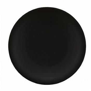 Kütahya Porselen Zeugma Mat Siyah Düz Tabak 21cm 6 Adet