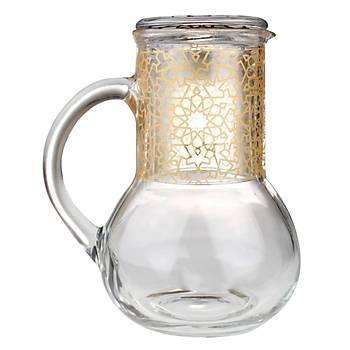 Elsanat Yýldýz Ofis Sürahi Seti Gold Metalik Kurumsal Hediye