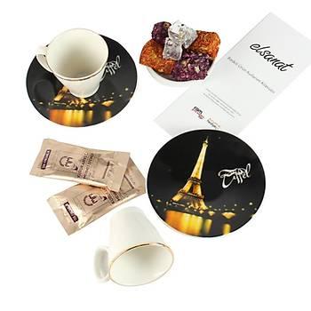 Elsanat Eiffel CMYK Kahve Ýkram Seti Kurumsal Hediye