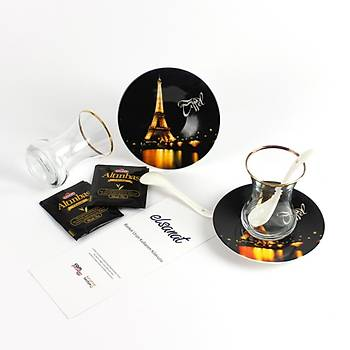 Elsanat Eiffel CMYK Çay Seti Kurumsal Hediye