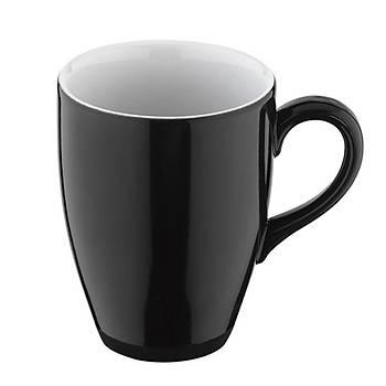 Kütahya Porselen Lima Kupa Mug Siyah 300cc 6 Adet