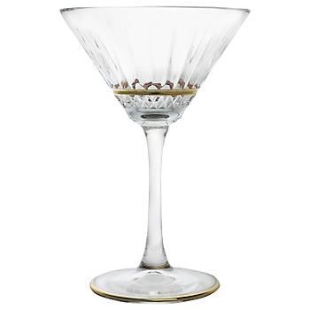 Paþabahçe Premium Gold Rim Martini Kadehi 6 adet