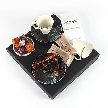 Elsanat Dubai Marine CMYK Kahve Ýkram Seti Kurumsal Hediye
