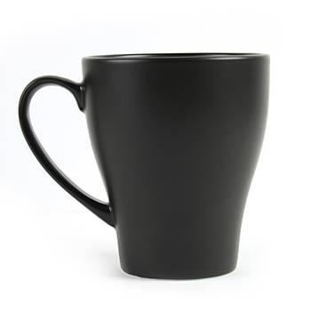 Güral Porselen Mat Siyah Kupa Mug 300cc 6 Adet