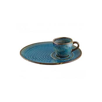 Bonna Sapphire Sunum Tabaklý Kahve Fincaný 6 Adet