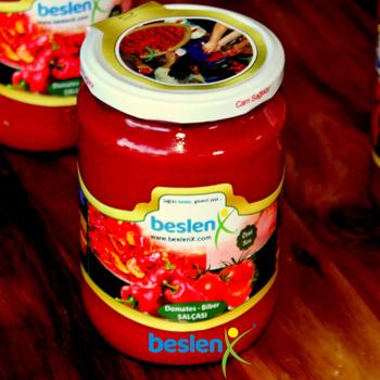 El Yapýmý Taze Kahvaltýlýk Domates - Biber Sos 300 ml