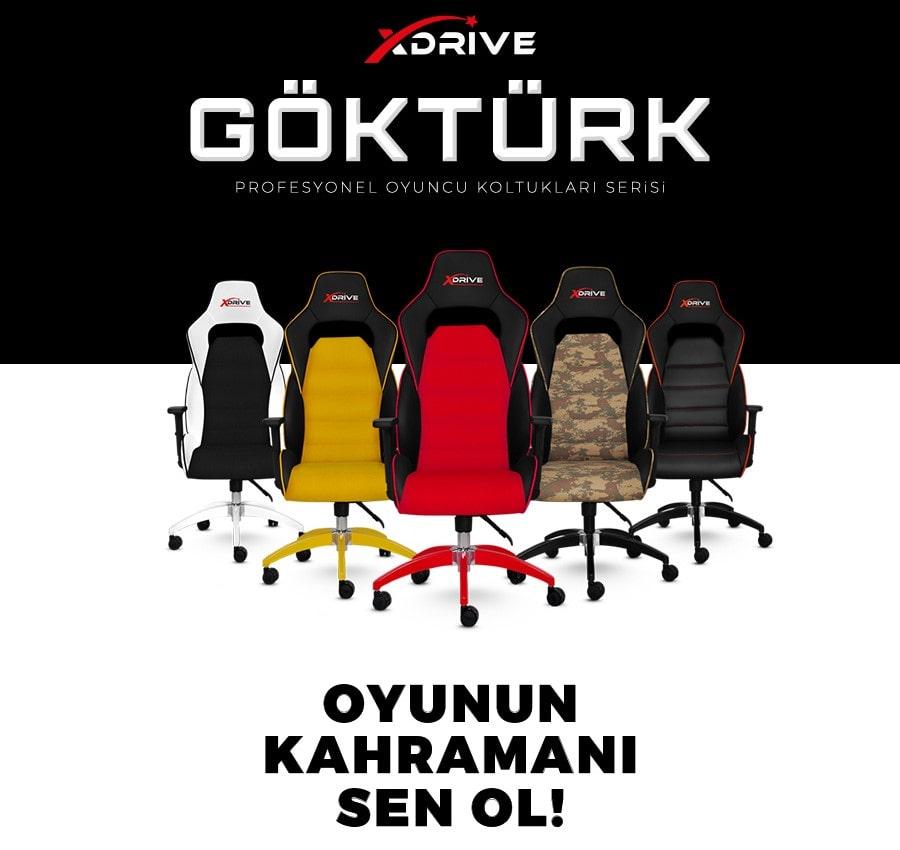 XDrive GÖKTÜRK Profesyonel Oyuncu Koltuðu Kýrmýzý | Gamemar