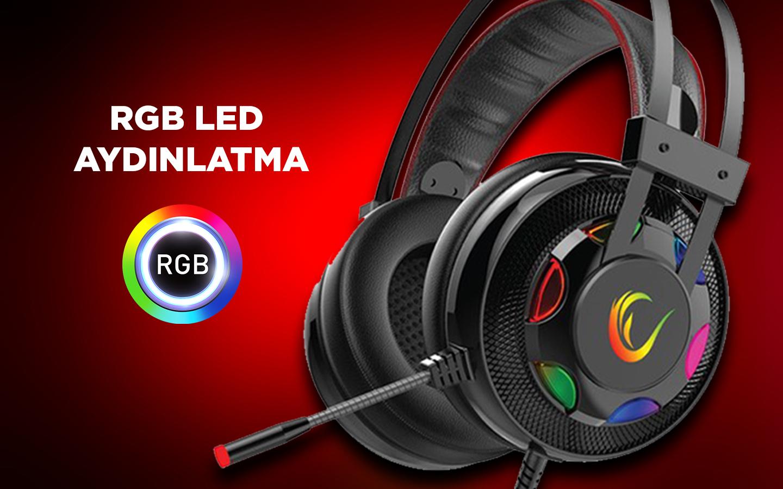 Rampage Miracle X1 RGB 7.1 Mikrofonlu Oyuncu Kulaklýðý