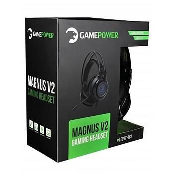 Gamepower Magnus V2 Siyah Oyuncu Kulaklýðý