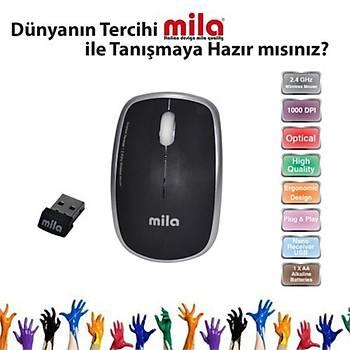 Mila ML402 Silent Serisi Sessiz Kablosuz Siyah Mouse