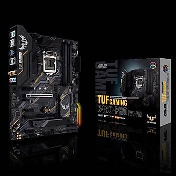 ASUS TUF GAMING B460-PRO (WI-FI) Intel B460 LGA1200 DDR4 2933 DP HDMI Çift M2 USB3.2 AX WiFi + BT AURA RGB ATX 128GB Ram Desteði