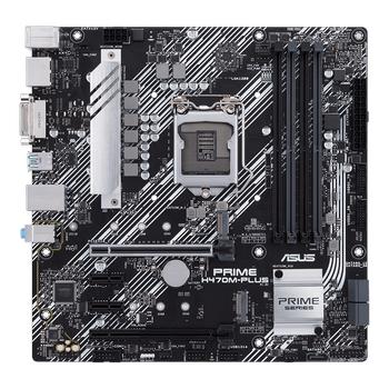 ASUS PRIME H470-PLUS Intel H470 LGA1200 DDR4 2933 DP HDMI Çift M2 USB3.2 AURA RGB Header ATX 4 adet RAM Slotu
