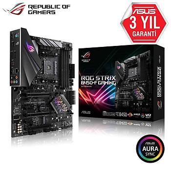 ASUS ROG STRIX B450-F GAMING AMD B450 AM4 DDR4 4400 DP HDMI M2 USB3.1 AURA RGB TPM ATX