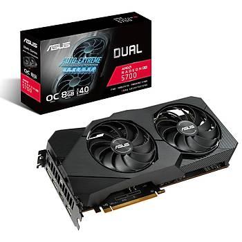 ASUS RADEON DUAL-RX5700-O8G-EVO 8GB GDDR6 256bit 1750Mhz OC 1xHDMI 3xDP EKRAN KARTI