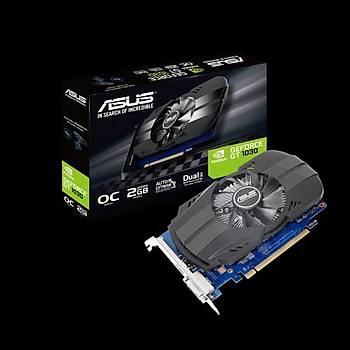 ASUS GEFORCE PH-GT1030-O2G 2GB GDDR5 64bit 1531Mhz OC 1xDVI 1xHDMI EKRAN KARTI