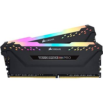 CORSAIR CMW64GX4M4E3200C16 64GB (4X16GB) DDR4 3200MHz CL16 VENGEANCE BLACK RGB PRO SOGUTUCULU DIMM BELLEK