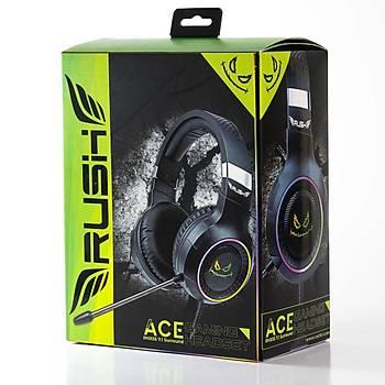 Rush ACE RHX55 7.1 Titreþim RGB Oyuncu Kulaklýðý Gaming Kulaklýk