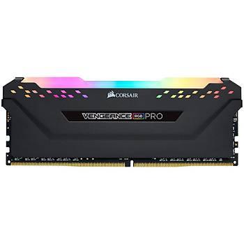 Corsair CMW32GX4M4Z3200C16 32GB (4x8GB) DDR4 3200 MHz C16 Vengeance RGB Black DIMM Bellek Ram