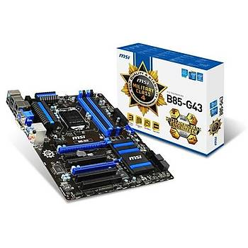 MSI B85-G43 GAMING B85 DDR3 VGA DVI HDMI SATA3 USB3.0
