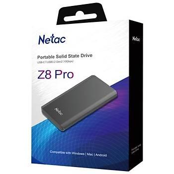 Netac Z8 PRO 1TB Taþýnabilir SSD NT01Z8PRO-001T-32