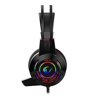 Rampage Miracle-X4 RGB Led 7.1 PS4-XBOX Mikrofon Oyuncu Kulaklýk