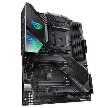 Asus Rog Strix X570-F Gaming AMD X570 AM4  DP HDMI Çift M2 + 6 SATA USB 3.2 Aura RGB ATX 128GB'A Kadar Ram Desteði- Anakart