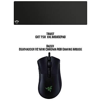 Razer Deathadder V2 Mini Chroma RGB Gaming Mouse +  Trust GXT758 XXL Mousepad