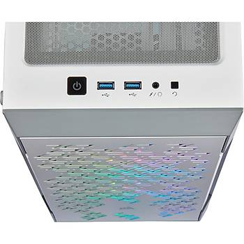 CORSAIR iCUE 220T RGB Airflow Tempered Glass USB 3.0 Beyaz Mid To