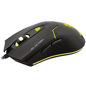 Everest Mercury X8 Usb Siyah 6D Optik Oyun Mouse