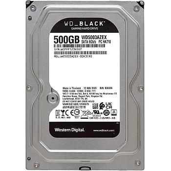 WD Black 3,5 SATA III 6Gb/s 7200 RPM 500 GB 64MB WD5003AZEX