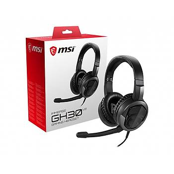 MSI GG Immerse GH30 V2 Hafif Katlanabilir 2X40 MM Sürücü Kablolu Kumanda 20HZ-20KHZ 30 OHM Mikrofon 1.5M Örgü Y-Kablo3.5 mm