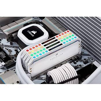 Corsair CMT32GX4M2K4000C19W 32GB (2X16GB) DDR4 4000MHz CL19 Dominatör Platinum RGB Soðutuculu Beyaz DIMM Bellek Ram
