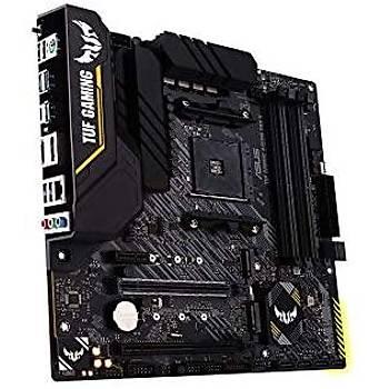 ASUS TUF B450M-PRO GAMING AMD B450 AM4 DDR4 4400 HDMI DVI Çift M2 USB3.1 AURA RGB mATX