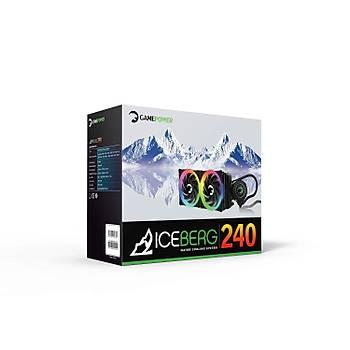 Gamepower Iceberg 240 CPU Sývý Soðutma 240mm