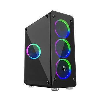 Frisby FC-9265G Cyber 400W ATX RGB Mid Tower Gaming Kasa
