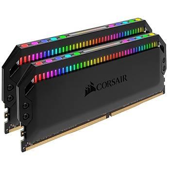 Corsair CMT16GX4M2C3200C16 16GB (2X8GB) DDR4 3200MHz CL16 Dominator Platinum RGB Soðutuculu Siyah DIMM Bellek Ram