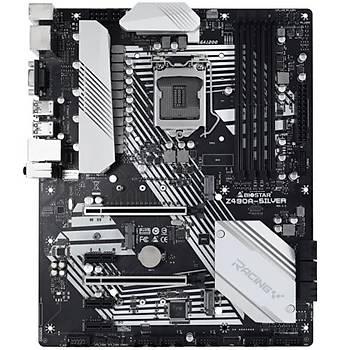 Biostar Racing Z490A-Silver DDR4 4400+S+GL LGA1200 ATX Anakart