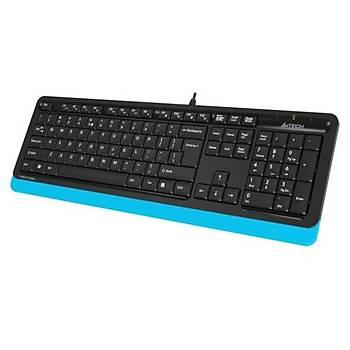 A4 Tech FK10 Q Kablolu MM Klavye Mavi USB
