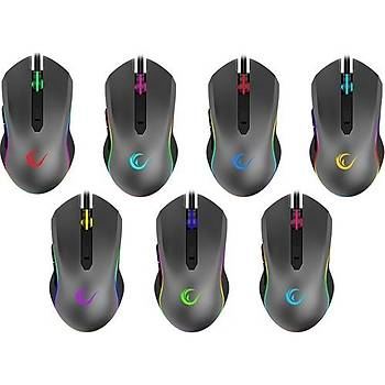 Rampage SMX-R70 BLAZE Usb 6400dpi RGB Makrolu Gaming Oyuncu Mouse