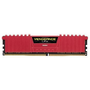 Corsair CMK16GX4M2B3000C15R 16GB (2X8GB) DDR4 3000MHz CL15 Vengeance Kýrmýzý LPX Soðutuculu DIMM Bellek Ram