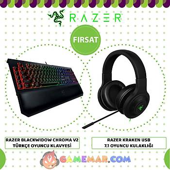 Razer BlackWidow Chroma V2 TR & Kraken Usb KULAKLIK Set