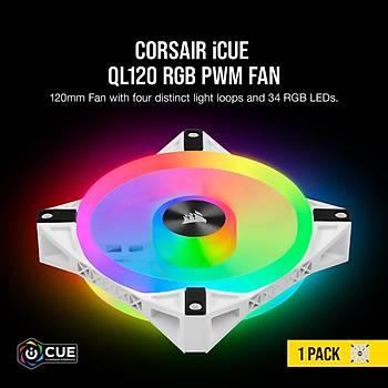 CORSAIR CO-9050103-WW QL120 RGB 120 MM DORT RGB RENK DONGULU BEYAZ PWM FAN