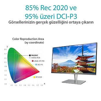 ASUS PROART 32 PA32UC-K 4K,IPS 3840x2160 5MS 3YIL THUNDERBOLT 3 USB-C X2 HDMI2.0X4 DP MM VESA HDR DCI-P3 DONANIM KALÝBRASYONU UHD PREMIUM?
