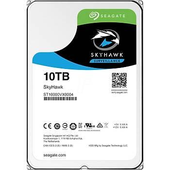 Seagate Skyhawk 3.5 10TB ST10000VE0008 Sata 3.0 256MB 210MB/S RV Sensör 7200RPM HDD & Harddisk