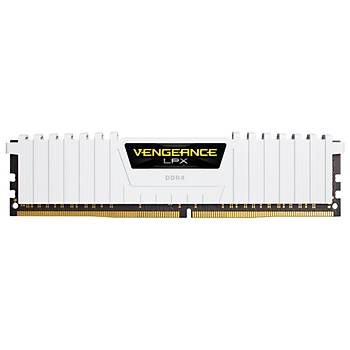 CORSAIR CMK32GX4M4B3200C16W 32GB (4X8GB) DDR4 3600MHz CL16 VENGEANCE BEYAZ LPX SOGUTUCULU DIMM BELLEK