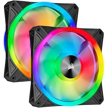Corsair CO-9050100-WW ICUE QL140 RGB 140 MM DORT RGB Renk Döngülü PWM Fan Lighting Node Core Kontrolcu ile Birlikte 2 Li Paket