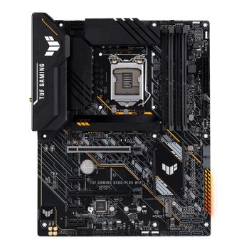 ASUS TUF GAMING Z490-PLUS Intel Z490 LGA1200 DDR4 4600 DP HDMI Çift M2 USB3.2 AURA RGB COM ATX 128GB?a kadar ram desteði