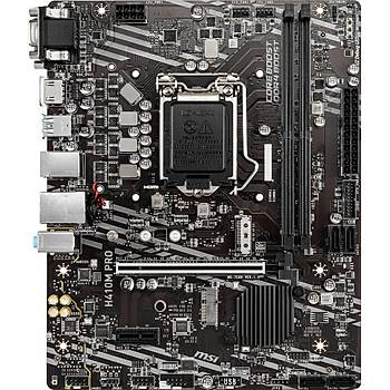MSI H410M PRO SOKET 1200 DDR4 2933 VGA DVI HDMI M.2 USB 3.2 MATX