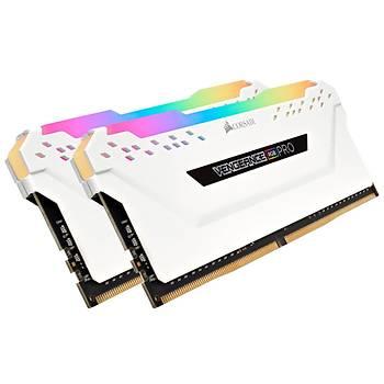 CORSAIR CMW16GX4M2C3000C15W 16GB (2x8GB) DDR4 3000MHz CL15 VENGEANCE RGB WHITE DIMM BELLEK